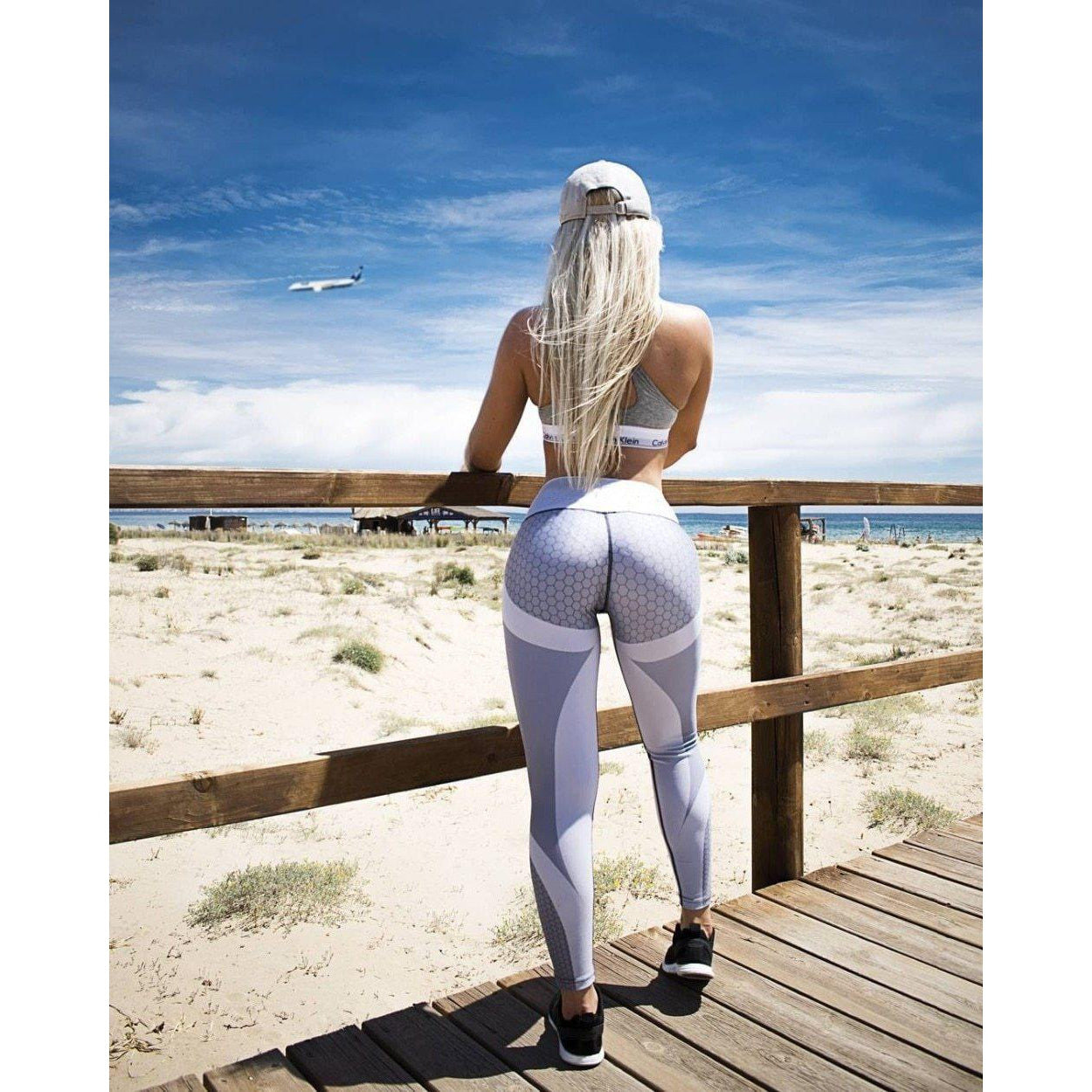 Mesh Print Fitness Sports Workout Jogging Leggings for Women - asheers4u