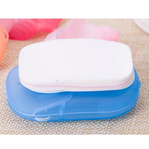 Mini Soap Paper Washing Hand Travel Convenient 20pcs Disposable Boxed Soap Paper - asheers4u