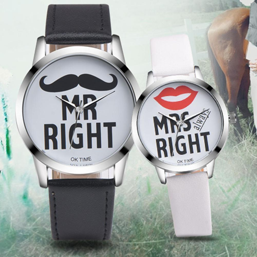 Mr Right/Mrs Right Couples Casual Wristwatch - asheers4u