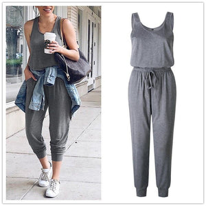 Sexy Off Shoulder Sleeveless Belts Jumpsuits Summer Casual Pockets Long Rompers - asheers4u
