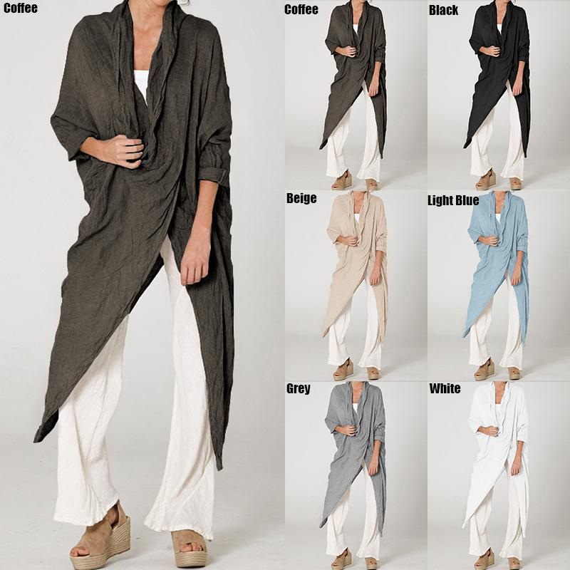 Plus Size Long Casual Cool Neck Long Sleeve Loose shirts - asheers4u