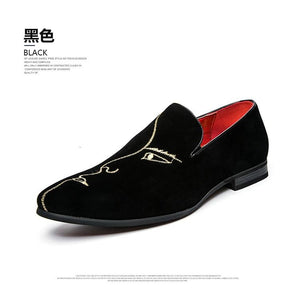 Pointed Men Formal Wedding Party Flat Shoes - asheers4u