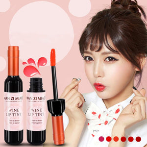 Wine Bottle shaped Baby Pink Liquid Lipstick Lip gloss - asheers4u