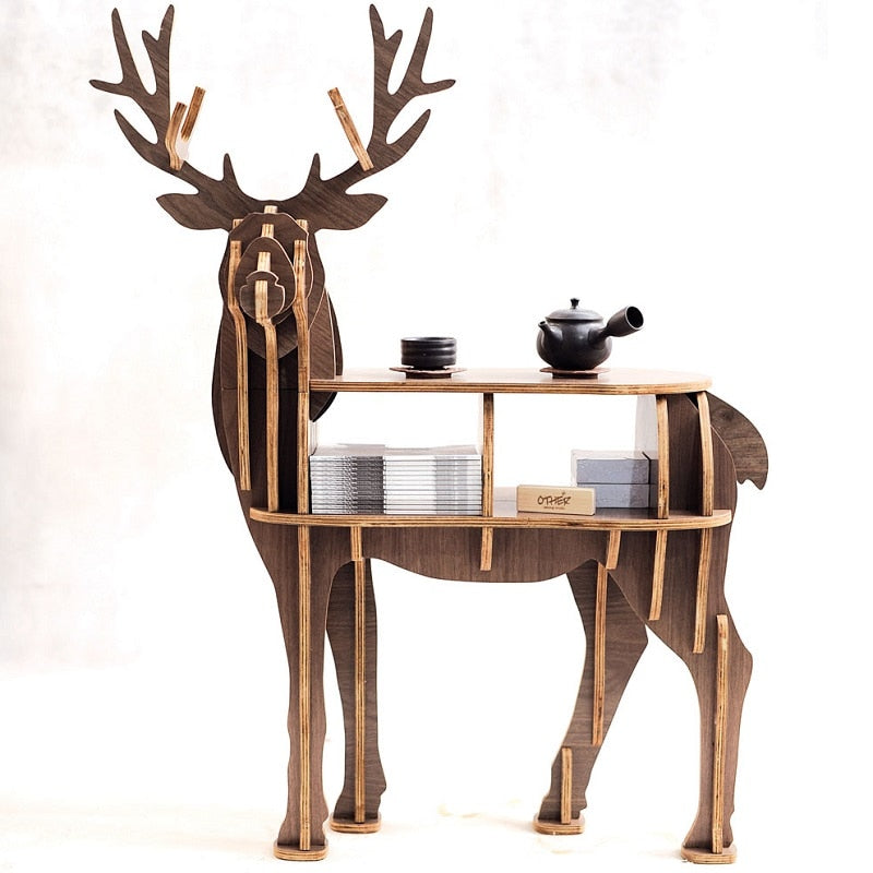 Reindeer table Wooden home furniture! self-build puzzle furniture - asheers4u