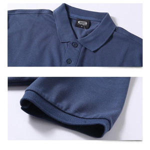 Pure Cotton Men Business Casual Male Polo Shirt Short Sleeve Breathable Polo Shirt 5XL - asheers4u