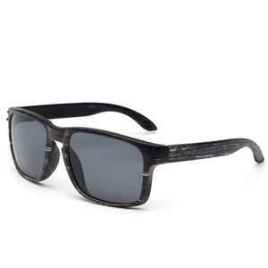 Wood Grain Male Sunglasses UV400 - asheers4u
