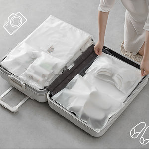 Transparent Cosmetic Bag pvc clear Travel Zipper Make Up Bath Organizer - asheers4u