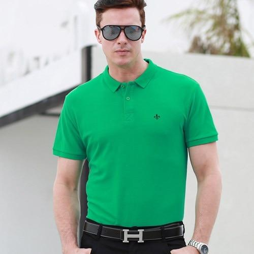 Polo Shirt Men High Quality New Men's Polo Shirts Business Men's Clothing Embroidery - asheers4u