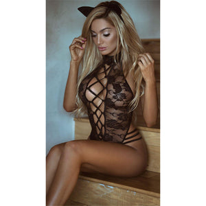 Sexy Lingerie Hot Black Lace Cosplay Erotic Lingerie Sexy Costumes - asheers4u