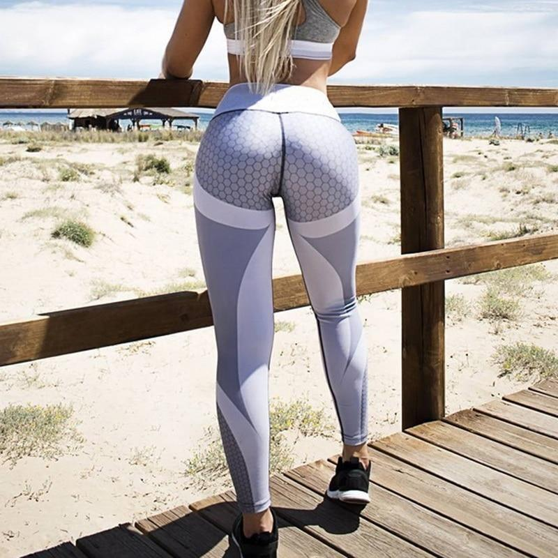 Sexy Mesh Printed Leggings for Women Workout and Gym - asheers4u