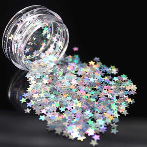 Silver Holographic Glitter Shimmer Diamond 12 Color Eye Shiny Skin Highlighter - asheers4u