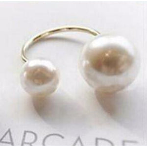 Simulated pearl open rings for women - asheers4u