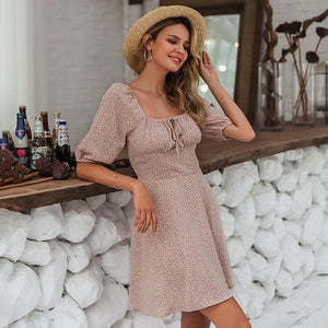 Summer chiffon Casual beach women dress - asheers4u