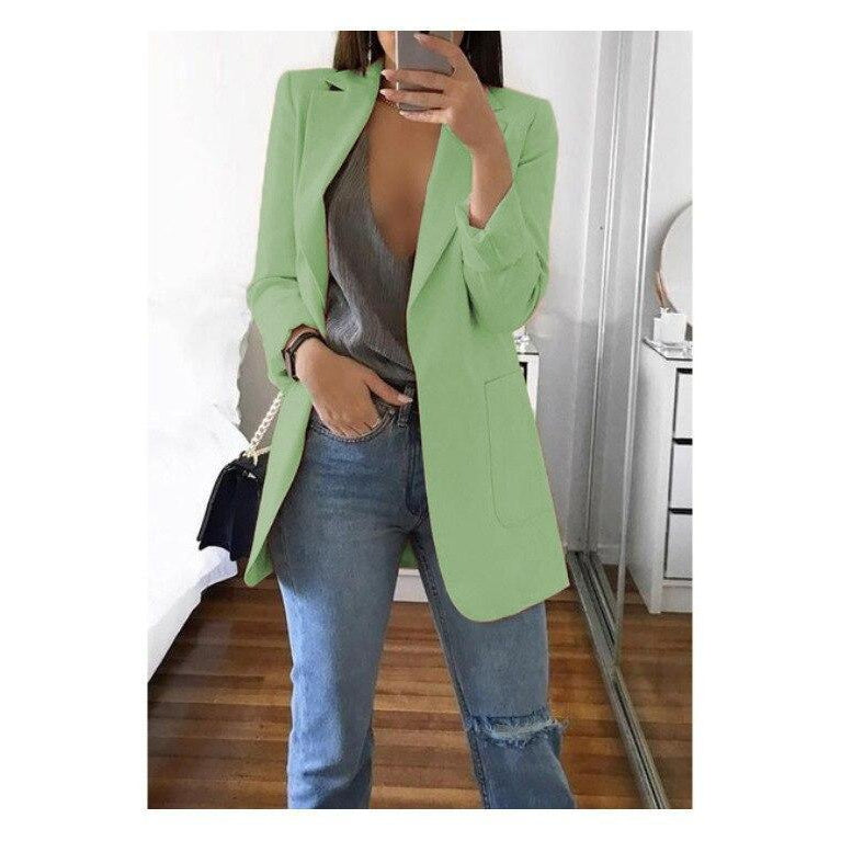XL Size Casual Women's Blazer - asheers4u