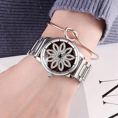 Watches,Silver Flower Watch,guiro,Zeinab Fashion.