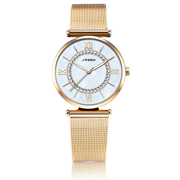 Ultra-thin mesh belt watch