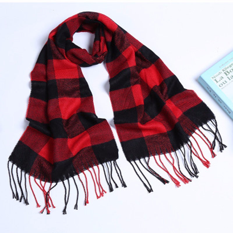 Scarfs & Scarves,New men and women scarves autumn and winter cotton plaid adult scarves winter hot scarves,guiro,Zeinab Fashion.
