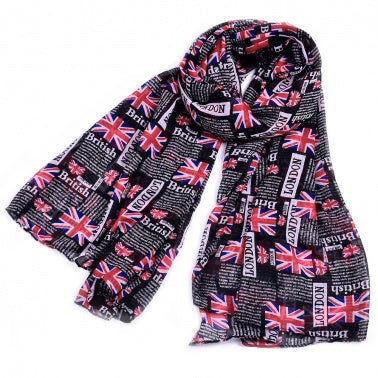 UK nation Flag print scarf Norway flag scarves and wraps spring pashmina skull printed bandana lady hijab scarf echarpe