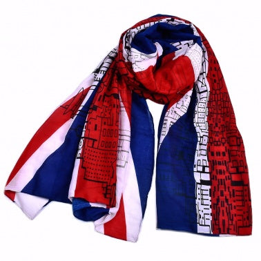Classic Style Thick Print UK Flag Women Scarf Cotton Voile Design pashmina Shawls and Scarves Size 90*180