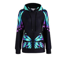 Load image into Gallery viewer, Clothing,Colorful Butterfly Hoodie,guiro,Zeinab Fashion.