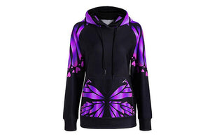 Clothing,Colorful Butterfly Hoodie,guiro,Zeinab Fashion.