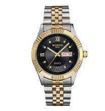 Load image into Gallery viewer, Watches,Wo Shi watch stainless steel golden couple watch business Mens watch waterproof female non mechanical table gift wholesale,guiro,Zeinab Fashion.