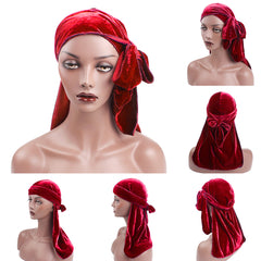 Velvet Unisex Hair Loss Cancer Chemo Hat Muslim Beanie Turban Head Wrap Cap