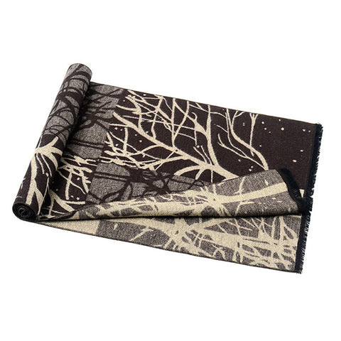Classic Men Accessories Scarf Winter Warm Soft Shawl Wrap Tree Pattern Scarves