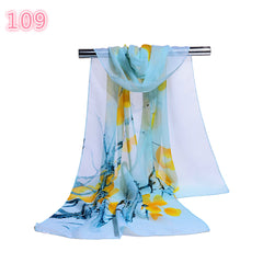 Fashion Women Summer Long Soft Flower Scarf Sunscreen Beach Wrap Shawl Scarves