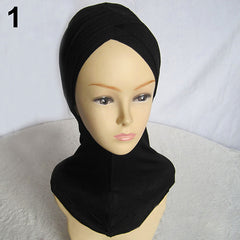 Fashion Women Muslim Scarf Full Cover Inner Hijab Cap Islamic Hat Underscarf