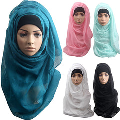 Women's Cotton Comfortable Muslim Islamic Ramadan Hijab Long Scarf Shawl Wrap Headwear