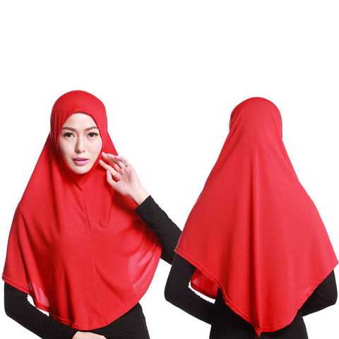 Fashion Women Solid Color Long Scarf Muslim Hijab Head Wrap Shawl Headwear