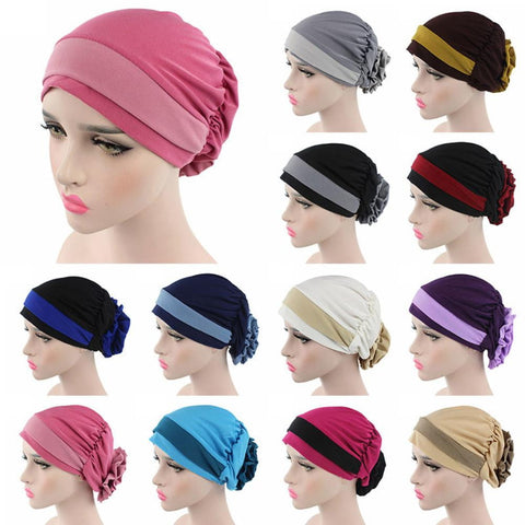 1 Pc Muslim Stretch Turban Hat Cancer Chemo Cap Hair Loss Headwrap Head Scarf