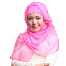 Load image into Gallery viewer, Scarfs & Scarves,Women Muslim Islamic Long Full Cover Hijab Turban Head Scarves Wraps Shawls Hat,guiro,Zeinab Fashion.