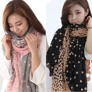 Scarfs & Scarves,Women's Long Candy Gradual Color Round Dots Scarf Shawl Wraps Stole Soft Scarves,guiro,Zeinab Fashion.