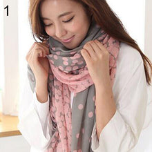 Load image into Gallery viewer, Scarfs & Scarves,Women's Long Candy Gradual Color Round Dots Scarf Shawl Wraps Stole Soft Scarves,guiro,Zeinab Fashion.