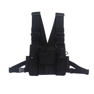 Functional tactical chest bag waist bag vest jacket multi-function backpack
