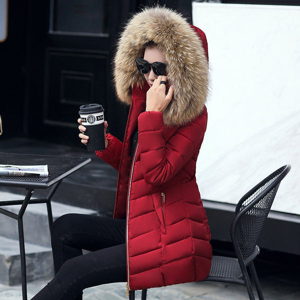 Winter jacket women fashion slim long cotton-padded Hooded jacket parka female wadded jacket outerwear winter coat women