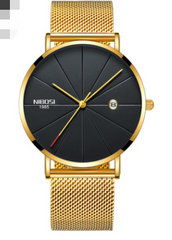 Nibosi cross border e-commerce, European and American men and women fashion trend micro business watch lovers net with leisure quartz watch