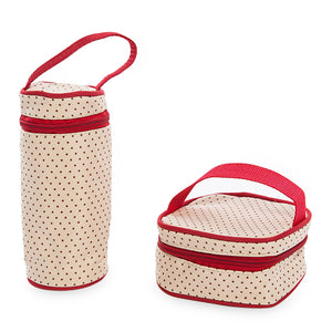 Maternity Bags,5pcs Multifunctional Dot Nappy Changing Mummy Handbag Diaper Pad Feeding Bottle Holder Food Bag For Babies,guiro,Zeinab Fashion.