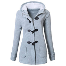 Hooded Plus Size Duffle Jacket Women's Fall Winter Polyester Coat