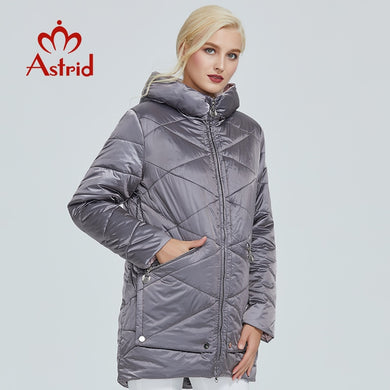 ,2019 Astrid winter jacket women Contrast color Waterproof fabric with cap design thick cotton clothing warm women parka AM-2090,guiro,FreeDropship.
