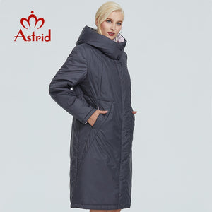 ,2019 Astrid winter jacket women Contrast color long thick cotton clothing with cap and zipper warm coat women parka AT-6703,guiro,FreeDropship.