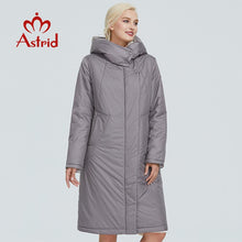 Load image into Gallery viewer, ,2019 Astrid winter jacket women Contrast color long thick cotton clothing with cap and zipper warm coat women parka AT-6703,guiro,FreeDropship.