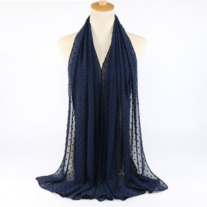 ,2020 NEW Flocked Bubble Chiffon Scarf Hijabs For Muslim Women Solid Color Breathable Islamic Headscarf Arab Head Scarves,guiro,Zeinab Fashion.