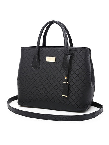 Women's Handbags - PU Rivet High Capacity Tote Bag Set Women Handbag Shoulder Bag Wallet Purse - guiro - Zeinab Fashion
