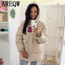 Load image into Gallery viewer, ,2020 Autumn Winter Cotton Parkas Oversized Coats and Jackets Womens Outerwear Hooded Puffer Jacket,guiro,FreeDropship.