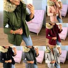 Load image into Gallery viewer, ,2020 New Basic jackets Female Women Winter Plus Velvet  Hooded Coats Cotton Winter Jacket Womens Outwear Coat New Jacket,guiro,FreeDropship.