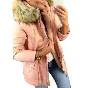 ,2020 New Basic jackets Female Women Winter Plus Velvet  Hooded Coats Cotton Winter Jacket Womens Outwear Coat New Jacket,guiro,FreeDropship.