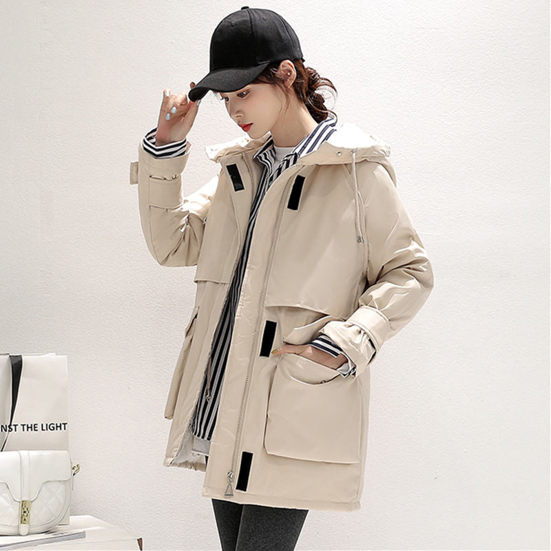 ,2020 New Fashion Faux Lamb Wool liner Parker Parka Winter Jacket Women Velcro Adjustable Waist Warm Parka Coat,guiro,FreeDropship.